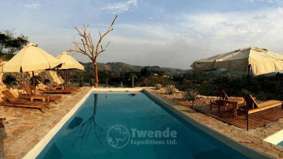 Swimming pool at papaya lake lodge